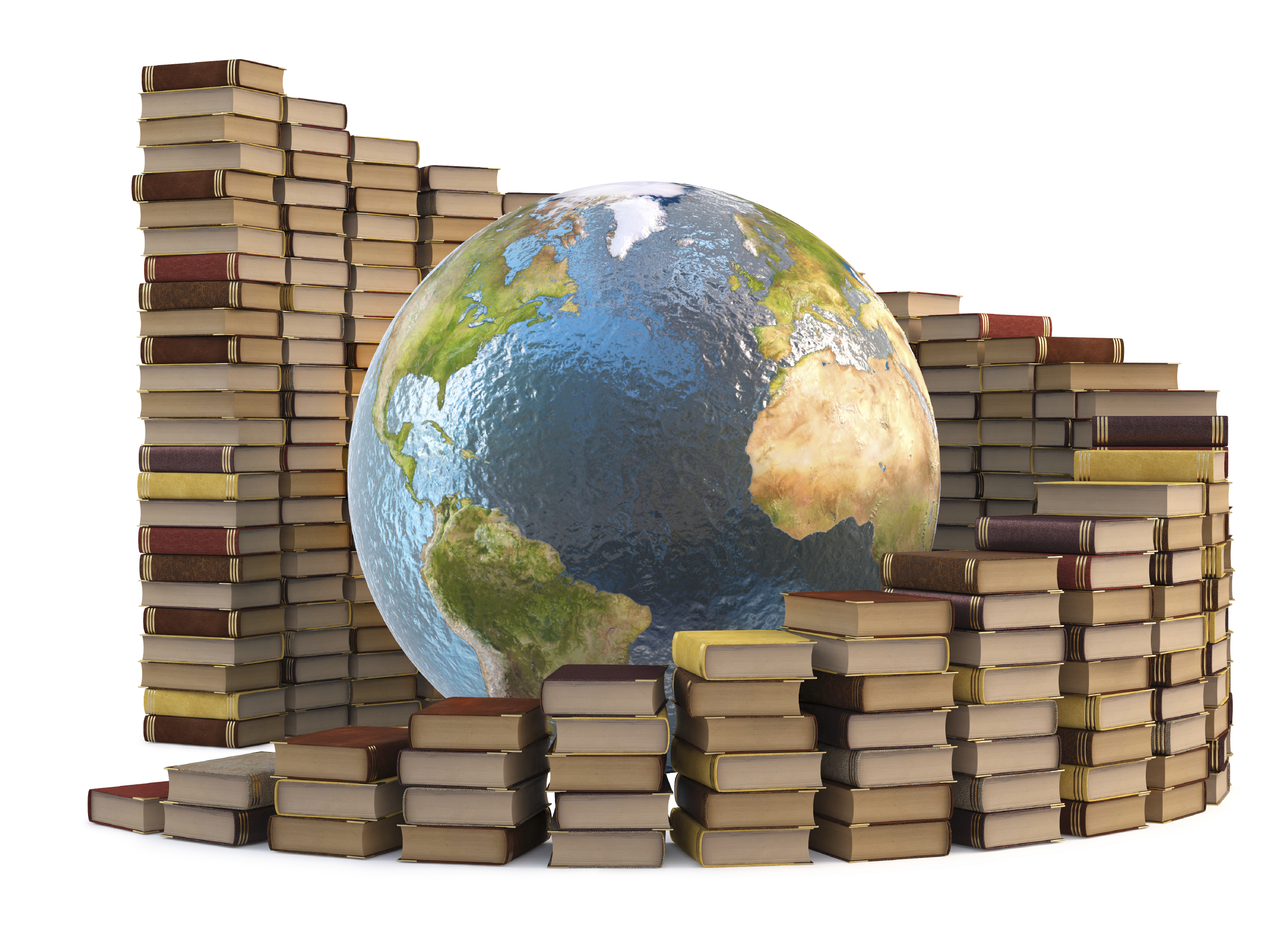 Image result for a globe and books